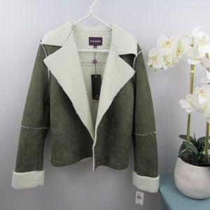 Vigoss faux suede open face jacket M